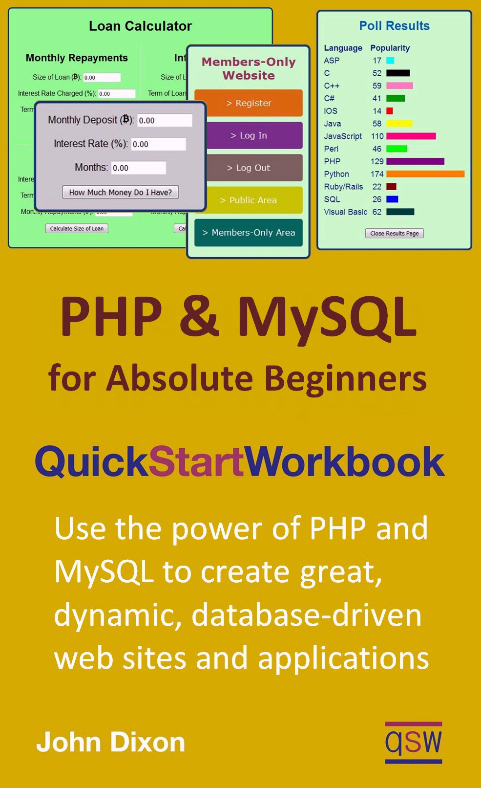 Buy PHP and MySQL Quick Start Workbook Kindle ebook